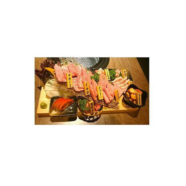 * 2017*07*01  うんまーっ🍺🍺❇ * #焼肉 #隆庵 #行橋 #A5肉 #職場の仲間と #ステキな飲み会 #肉#にく#29