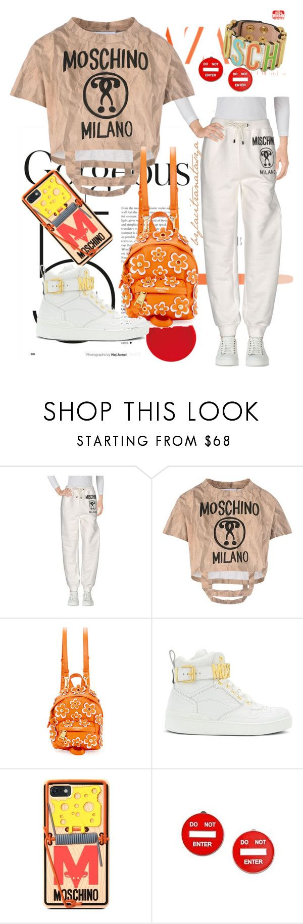 FEELING MYSELF WITH MOSCHINO by bylacitranatasya on Polyvore featuring Moschino