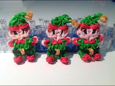 Rainbow loom Nederlands, Kerst Elfje, Original Design Christmas elf. Cute!!!