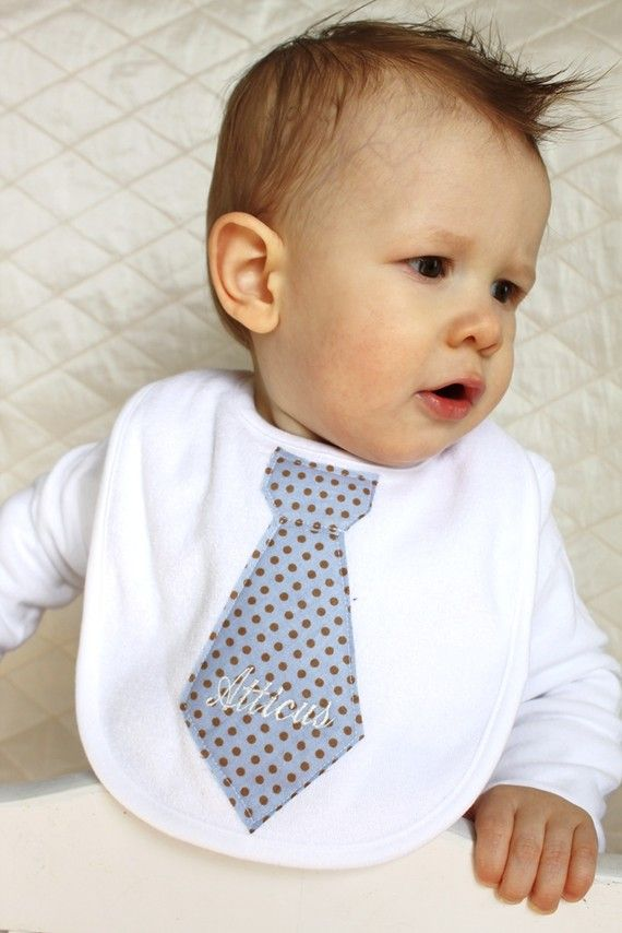 Fancy drool bib, cute! And I love the name on it, Atticus :)