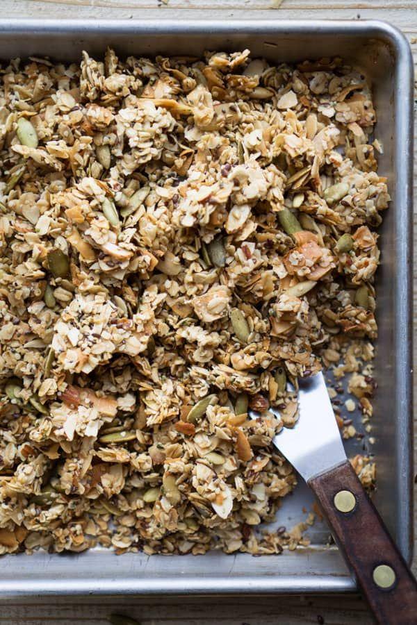 Easy Homemade Granola With 4 Seeds Recipe Healthy Recipes