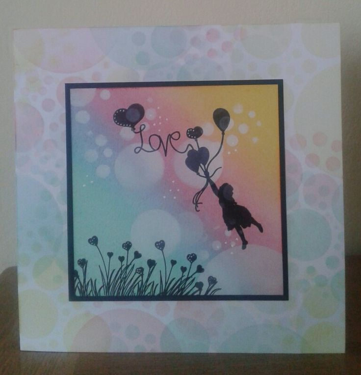 Love, love, love this bokeh technique. Jo's bubbles stencil from Claritystamp is just perfect for it.