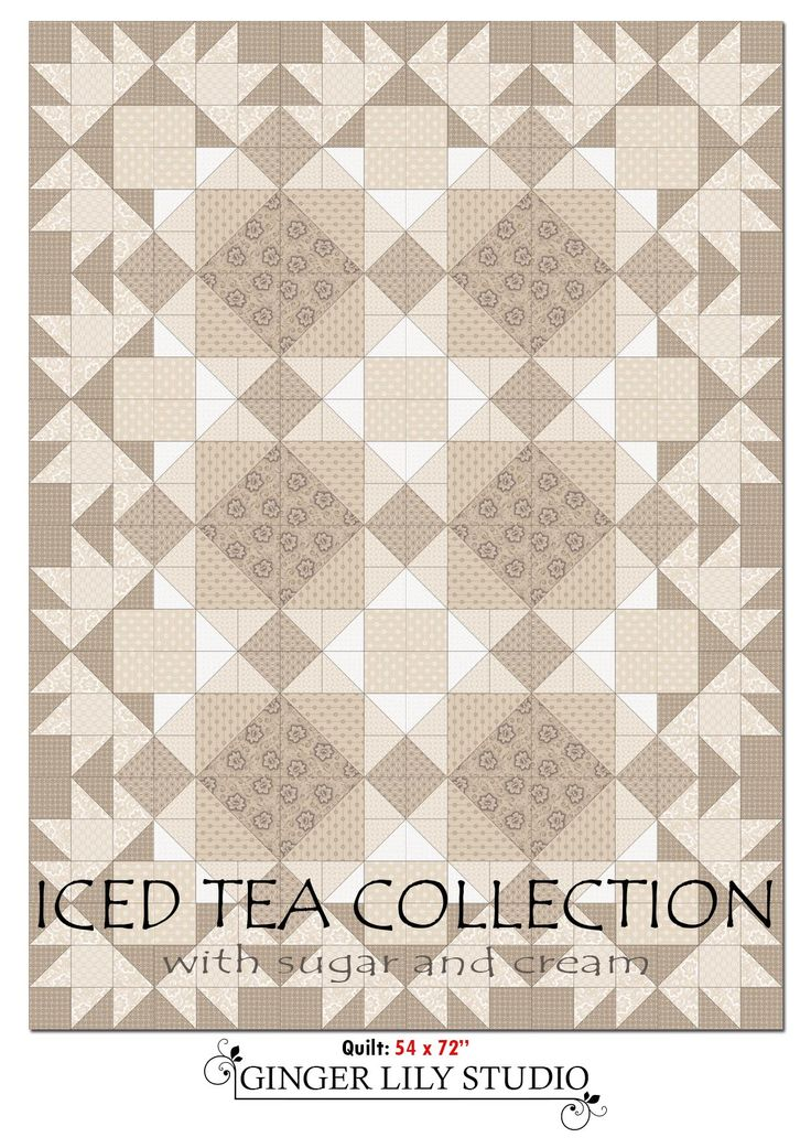 Iced Tea Collection quilt. Pdf of pattern pages available for download here:  www.africanskyfabrics.com/images/Iced%20Tea%20Collection%20quilt%20pattern.pdf