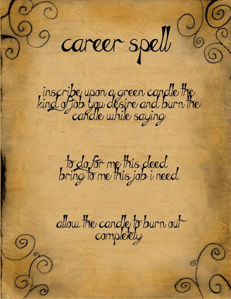 Career Spell by minimissmelissa.deviantart.com on @deviantART