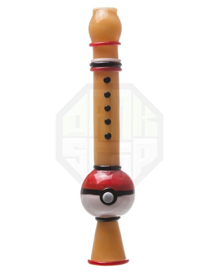 Pokeflute Glass Pipe    http://www.coolestbongs.com/pokeflute-glass-pipe/  #pokemon #pokeflute #pipes #cool #420 #marijuana