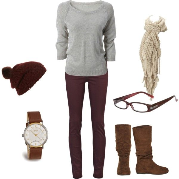 Comfy casual: Christmas Fashion, Casual Outfit, Fall Spr Fashion, Warm Weather, Grey Sweaters, Faux Glasses, Fake Glasses, Pom Pom, Accessories