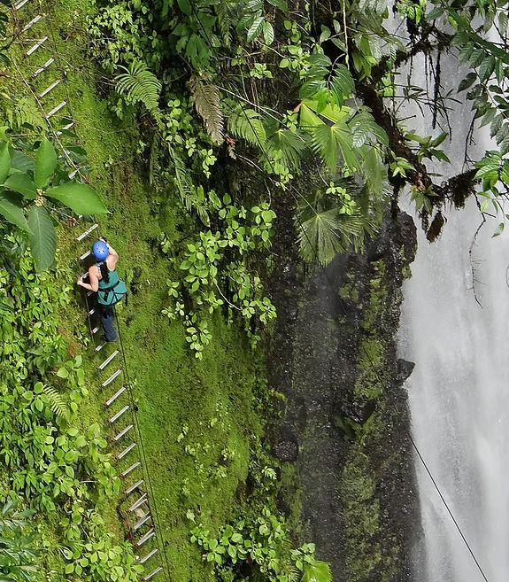 Go rappelling beside a waterfall in Costa Rica