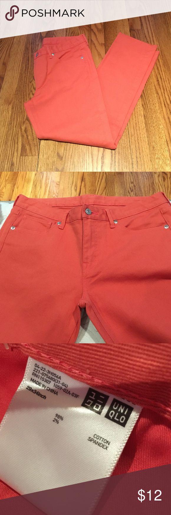 Uniqlo jeans Uniqlo women's jeans. NWOT. 29x34. Orange. Uniqlo Jeans