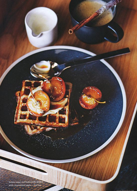waffles + caramelized apples | donna hay