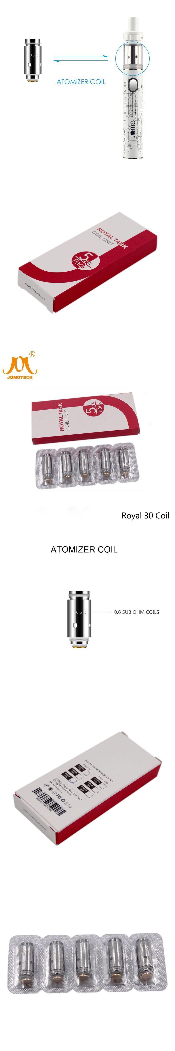 JomoTech Royal 30w Evaporator Electronic Cigarette Atomizer Core Replacement Coil SSOCC 0.6ohm Atomizer Dual Coil Jomo-C11