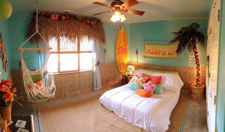 Chambre pour ados style Hawaïen