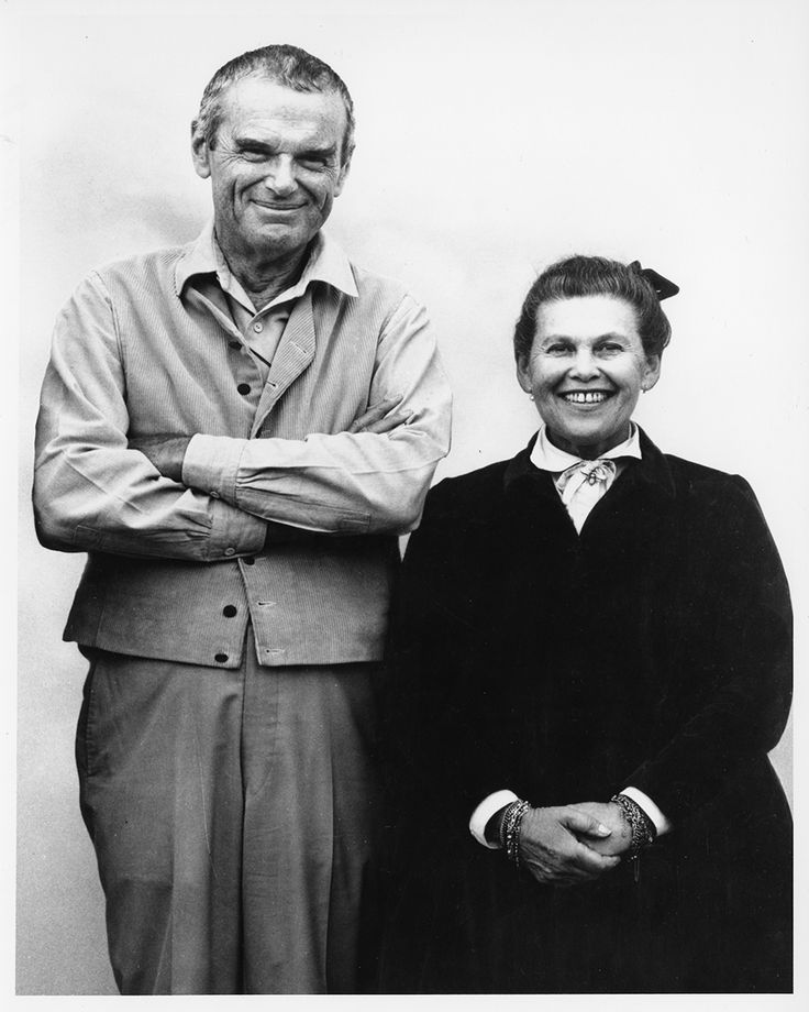 Charles and Ray Eames photographed for the Connections exhibition in October…                                                                                                                                                                                 More
