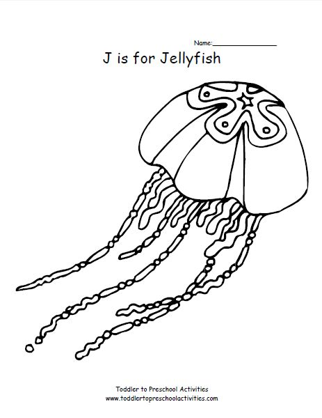 lettered coloring pages - Jellyfish Coloring Pages Kids