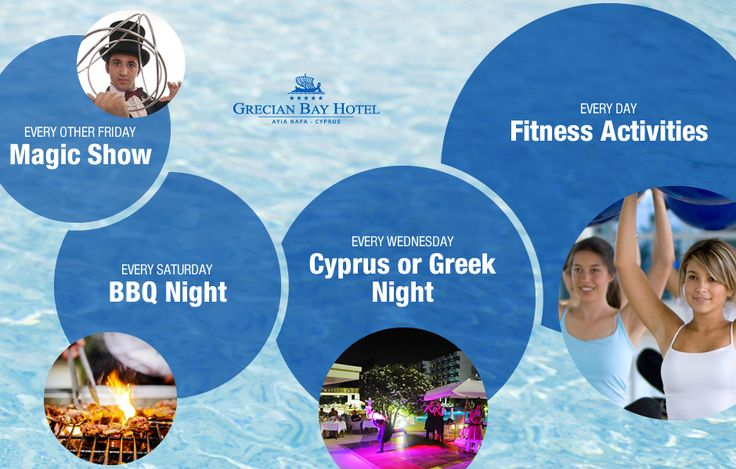 Whether you're low-key or high-energy, there's always a summer activity that's right for you at Grecian Bay Hotel Cyprus! Contact our front desk for hours and availability. #GrecianBay #GrecianHotels #hotel #activities #Cyprus #AyiaNapa http://www.grecianbay.com/