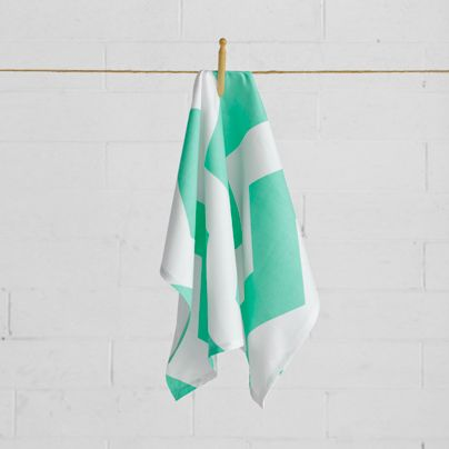 Chevron Grande Tea Towel Mint