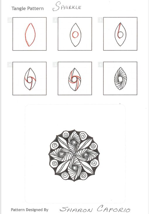 How to draw SPARKLE « TanglePatterns.com