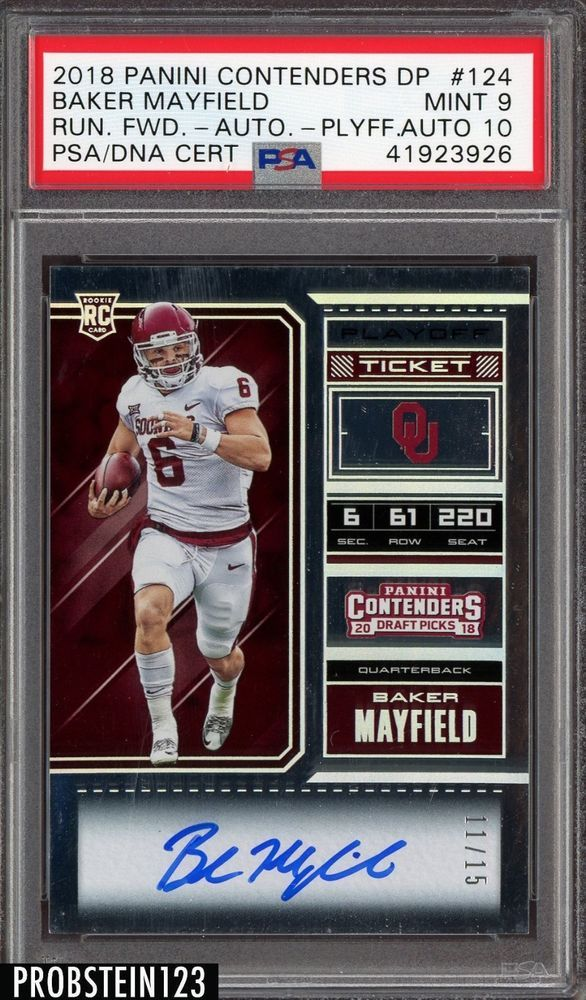 sports shoes 55762 176ca 2018 Contenders Playoff Ticket Baker Mayfield RC AUTO 11/15 ...