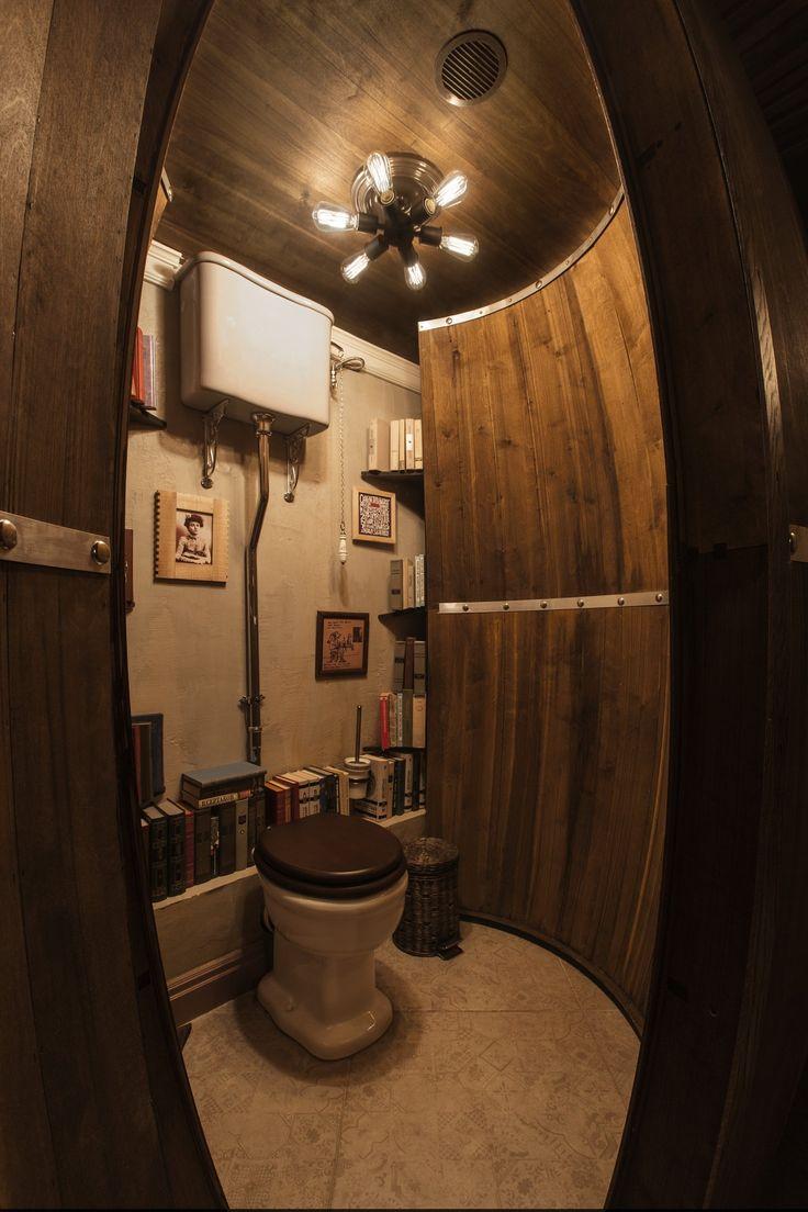 Туалетные кабинки в виде винных бочек от #finoarte в винном баре I Like Wine (Покровка, 16). Рассказ о создании с фотографиями по ссылке:http://finoarte.livejournal.com/5291.html