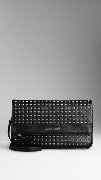 Beautiful! Studded Leather Foldover Crossbody Bag - Burberry