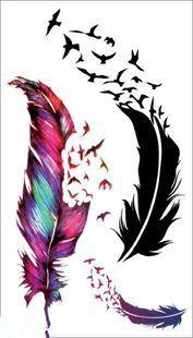 Купить товарПереброска воды флэш поддельные татуировки наклейки продукты секса водонепроницаемый временные татуировки наклейки ветром перья в категории Временные татуировкина AliExpress.
