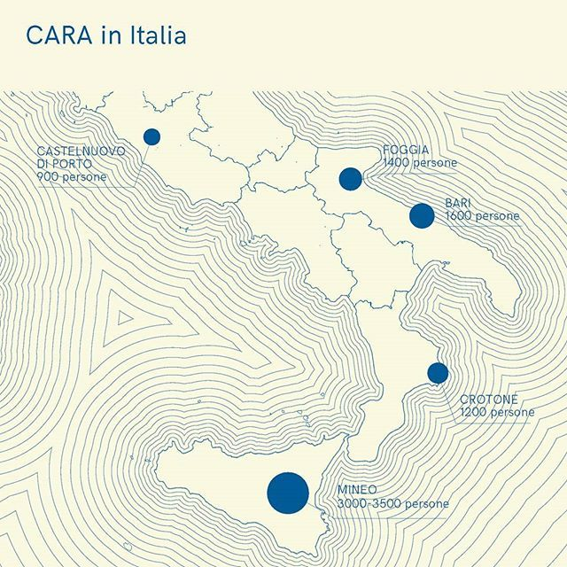 Source: Ansa 15/05/17 _ #vademecum #guidavademecum #italy #cara #migrants #map #infographic #design #instanews #infodesign #cartography #cara #receptioncentre #sea #welcome #noborder #graphucdesign #editorialdesign #inspiration #refugee