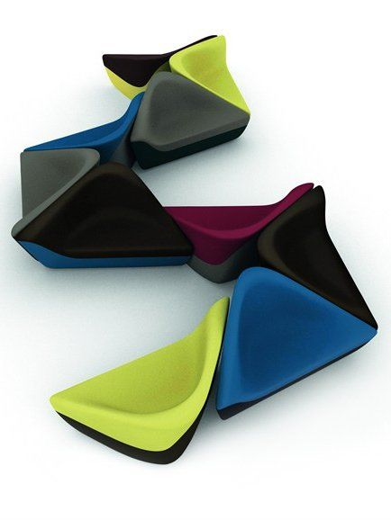 Waiting #Chair SEATING STONES by Walter Knoll | #design UNStudio #colour