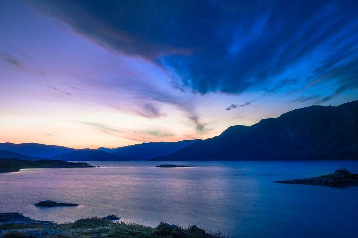 Sunset at Fleinsendin, Norway.