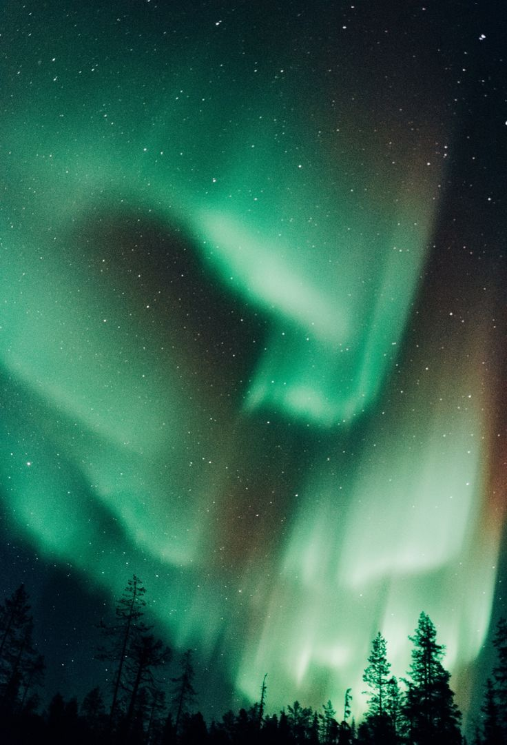 Northern Lights in Ylläs, Lapland, Finland