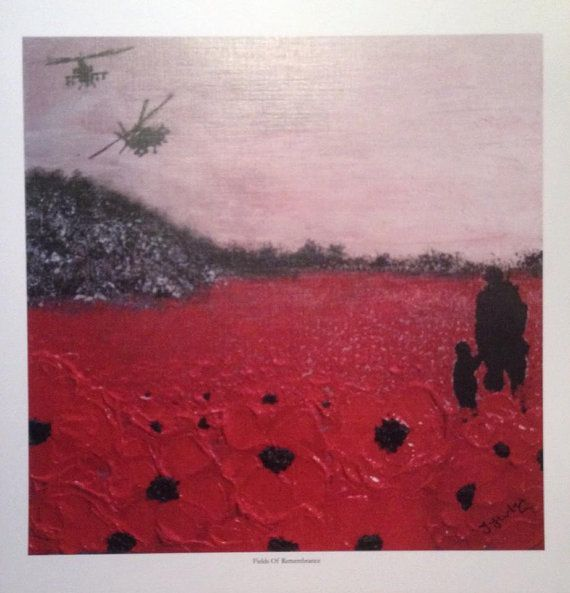 Fields Of Remembrance from the War Poppy by PortOutStarboardHome