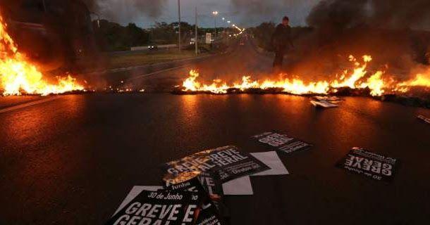 Βραζιλία: Βίαια επεισόδια σε διαδηλώσεις κατά των μέτρων λιτότητας της κυβέρνησης Τεμέρ [εικόνες]