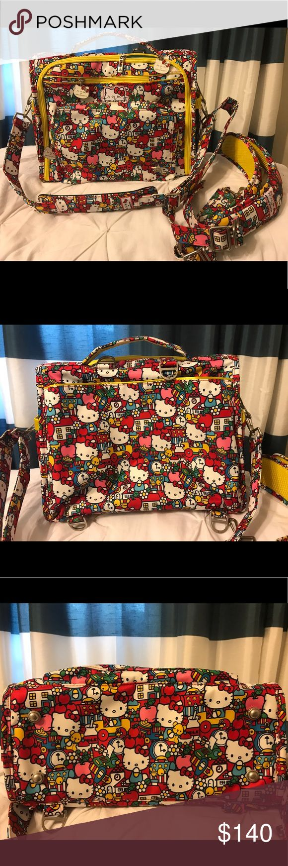 JuJuBe for Hello Kitty BFF Convertible diaper bag Used once, looks completely new! Has messenger & backpack straps. Limited edition print of the BFF TickTock & is rare and HTF. 🅿️🅿️ Accepted Ju-Ju-Be Bags Baby Bags