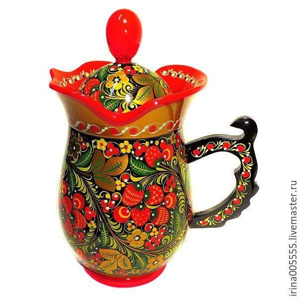 Купить Кувшины с художественной росписью!! - бордовый, кувшинчик, кувшин для воды, кувшин для вина, кувшин для молока