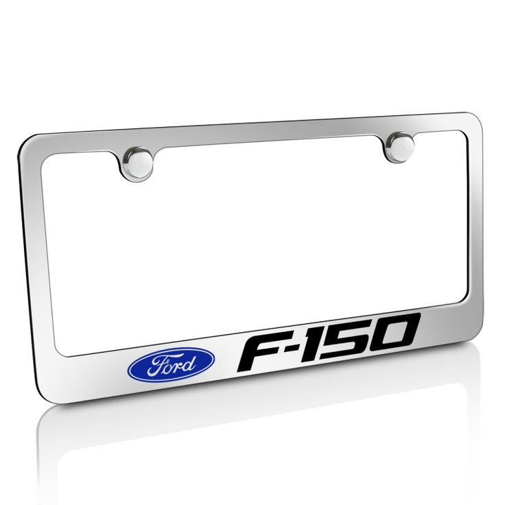Ford F 150 Chrome Metal License Frame El 9033242 29 95 License Plate Frames License Frames License Plate Covers
