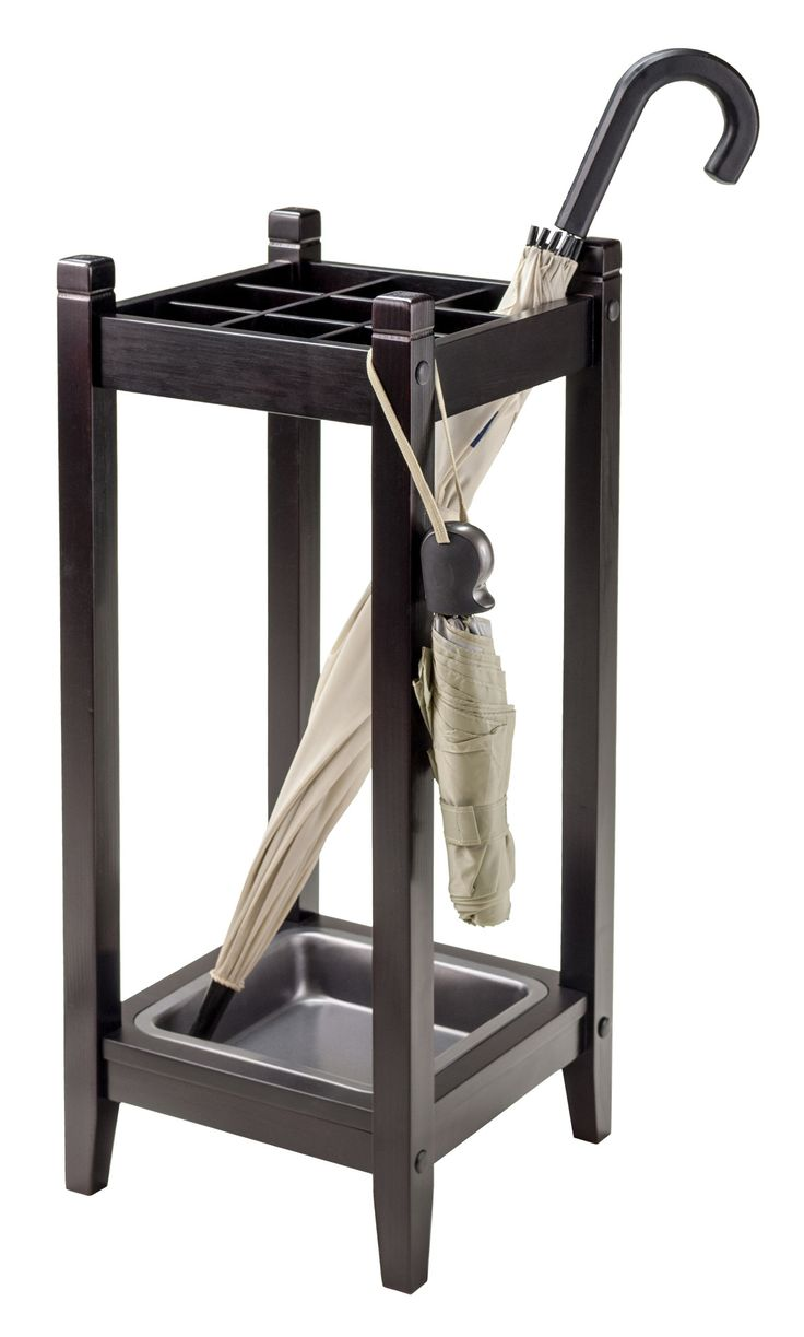 """Features:  -Material: Wood/metal.  -Color: Espresso.  -Spot clean.  -Comes with metal tray.  Finish: -Espresso. Dimensions:  Overall Height - Top to Bottom: -26"""".  Overall Width - Side to Side: -11""""."""