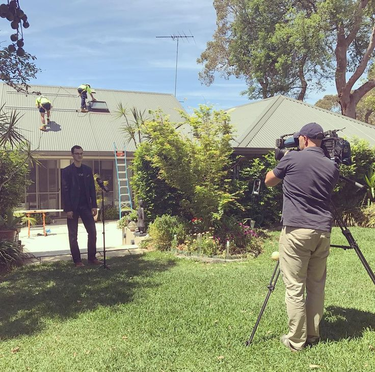 Tune into Channel 7 news tonight! #behindthescenes #renewableaustralia #renewableenergyaustralia #news #channel7news #cleanenergy #solarpanels #solarandbatteries #shinehub
