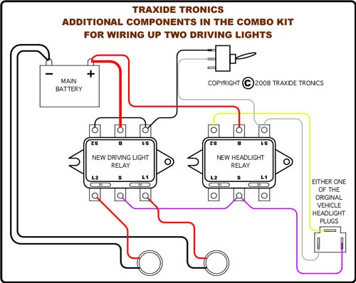 Traxide Combo Headlight And Driving Light Wiring Upgrade Kit  165 Aud