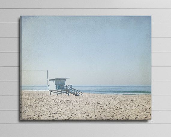 Lifeguard Tower Picture Beach Canvas by PureNaturePhotos on Etsy