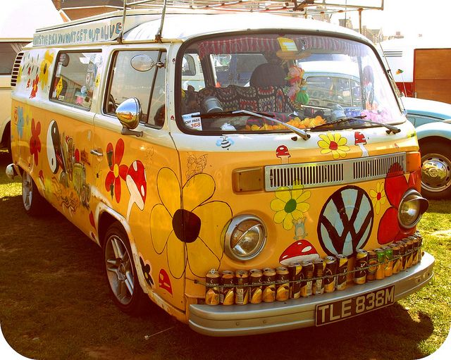 furgo hippy van hippie  car