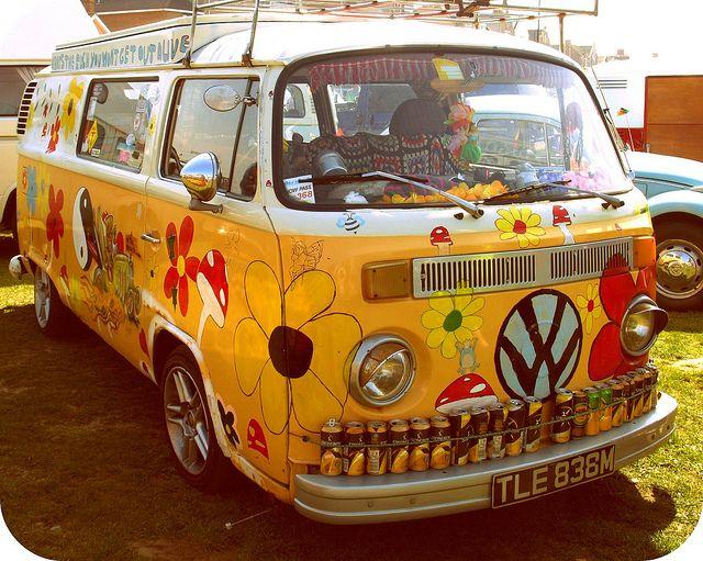 Hippy  VW Bus...far out, man...