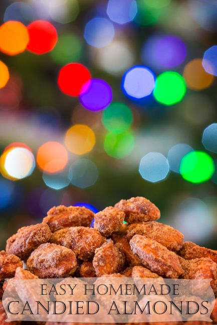 Easy Homemade Candied Almonds - Perfect little Christmas gifts!.....(these ate my favorite things ever my mom and I get them every time we go to a craft show )