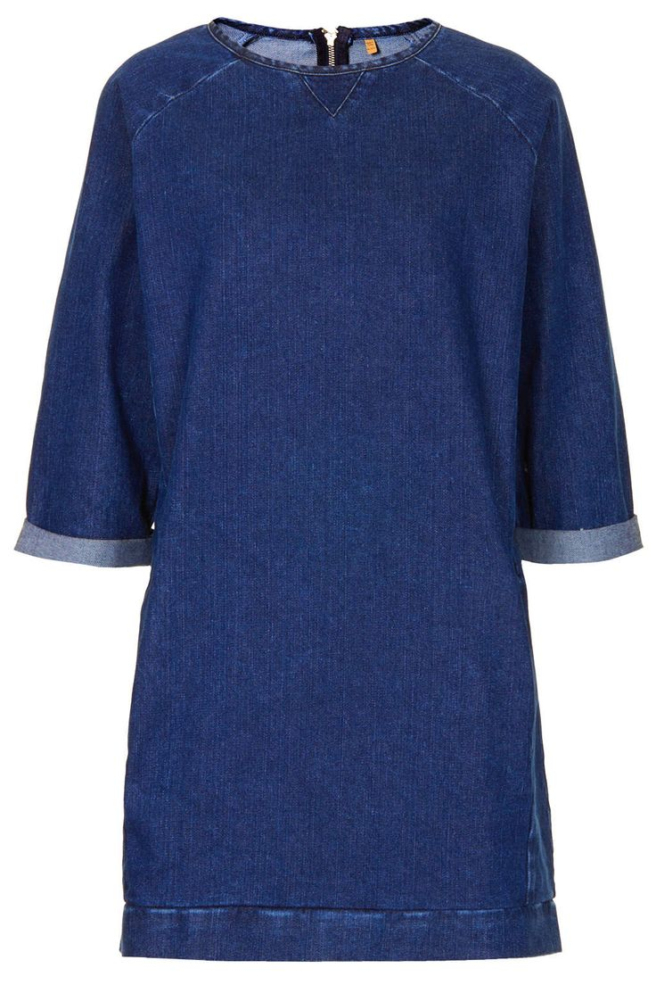 MOTO Denim Jumper Dress - Denim - Clothing - Topshop