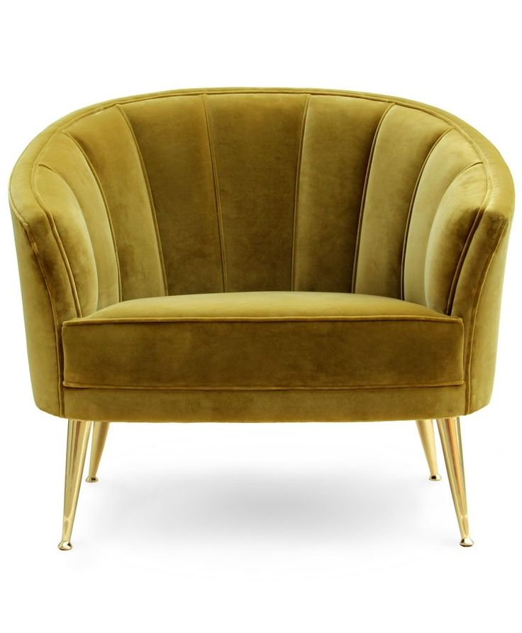 Modern furntiure velvet chair for luxury decors for Trendy living room chairs
