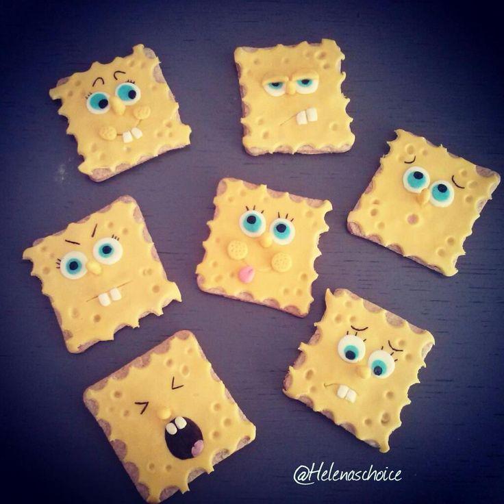 Spongebob cookies Made by me...