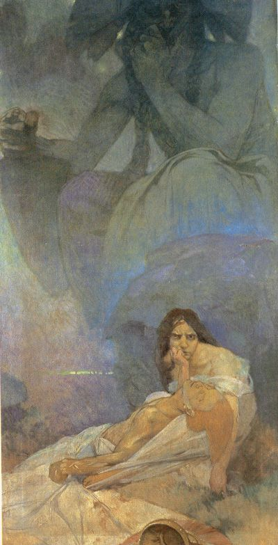 Tragedy, a mural study by Alphonse Mucha for a New York German Theatre, 1908