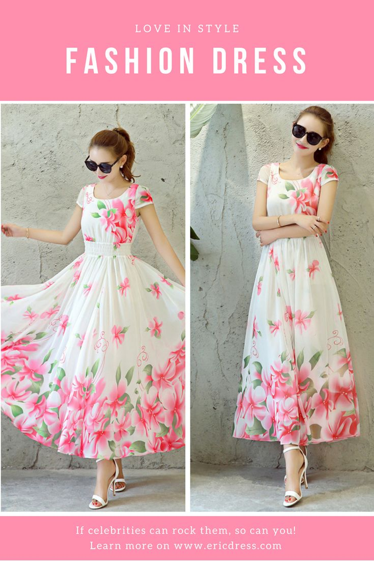 1c9f00d8d0 Flower Print Expansion Short Sleeve Maxi Dress. Material Polyester ...