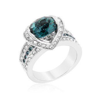 Ovaline Blue Ring