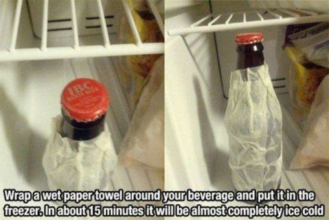 Fast freeze beverages - Top 68 Lifehacks and Clever Ideas that Will Make Your Life Easier