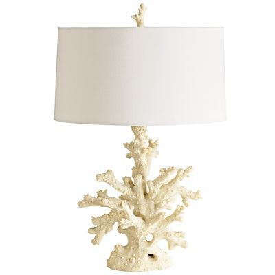 Coral Lamp  Can't stop thinking about this lamp! Can't decide if it's over kill to have two in the bedroom- 1 on each night stand. What do you think, pinners?