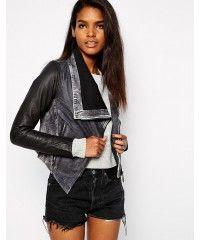 Doma Lamb Mio Sleeve женская лайковая кожаная куртка