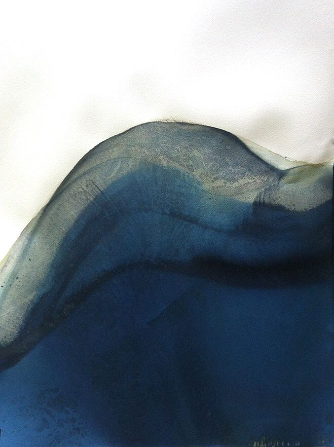 Blue abstract art contemporary